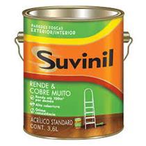 Tinta Acrílica Rende e Cobre Muito Fosco Uva Verde 3,6 Litros - SUVINIL