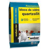 ARGAMASSA BLOCO DE VIDRO 5KG - 0070000000030FD - WEBER QUARTZOLIT