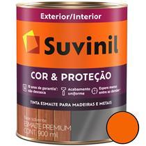 Tinta Esmalte Sintético Cor e Proteção Brilhante Para Madeira e Metal 900ml Laranja - 53377345 - SUVINIL