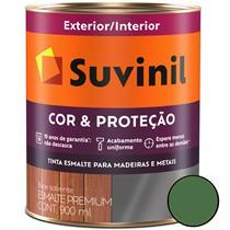 Tinta Esmalte Sintético Cor e Proteção Brilhante Para Madeira e Metal 900ml Verde Folha - 53377981 - SUVINIL