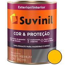 Tinta Esmalte Sintético Cor e Proteção Brilhante Para Madeira e Metal 900ml Amarelo Ouro - 53376762 - SUVINIL