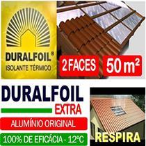 Manta Para Subcobertura 2 Faces Alumínio 50m2 - DURALFOIL
