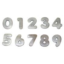 Algarismo Alumínio Escovado Pequeno Número 4 - 1877 - STANFER
