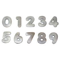 Algarismo Alumínio Polido Pequeno Número 0 - 1798 - STANFER