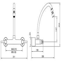 Misturador para Cozinha 1258 C31 - 7021102 - LORENZETTI