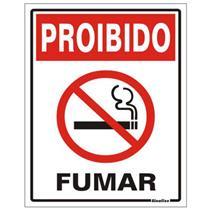 Placa de Vinil Auto-adesiva 15x20cm Proibido Fumar - 420 AA - SINALIZE