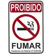 Placa de Poliestireno Auto - Adesiva 15x20cm Proibido Fumar - 220 AB - SINALIZE
