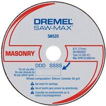 Disco de Corte Para Alvenaria Saw Max Para Dremel - SM520 - BOSCH