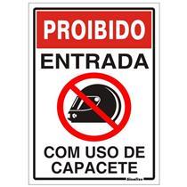 Placa de poliestireno auto adesiva 20x30cm proibido - Placa de poliestireno ...