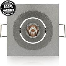 Lâmpada Super Led Mini Spot Quadrado Em Alumínio Bivolt 2.5W 3000K - 03168 - OUROLUX