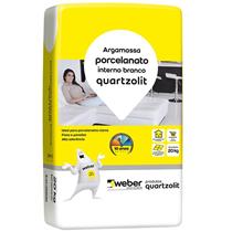 Argamassa Cimentcola Porcelanato Branco Interno 20 KG - 0102000000020PA/PL - QUARTZOLIT