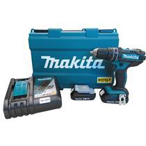 Parafusadeira e Furadeira de Impacto a Bateria 18 Volts com Carregador Bivolt + Kit de Acessórios - DHP482RAE - MAKITA