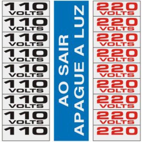 3 Placas de Alumíno Auto-Adesiva 15x15 Ao Sair Apague a Luz / 110v / 220v - 120 AH - SINALIZE