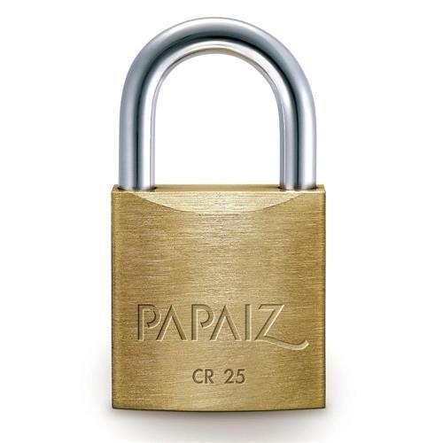 Cadeado Latão com 2 chaves CR-25 mm - 0100250SM - PAPAIZ