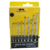 Broca concreto 08pcs          black bull  - 621 - BLACK BULL