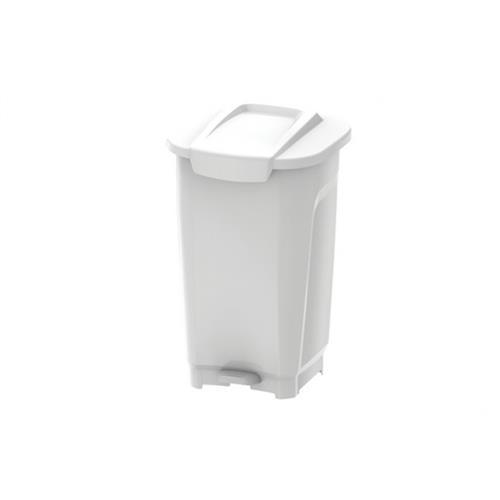Lixeiro t-force branco 50l    tramontina  - 07898507482077 - TRAMONTINA