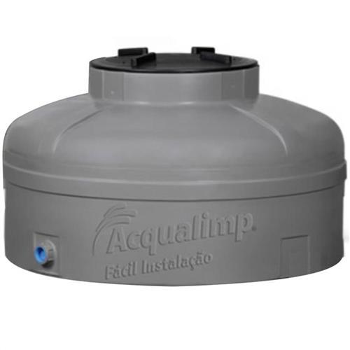 Caixa D'Agua Cor Cinza 1000 Litros Com 1 Flange - 500146 - ACQUALIMP