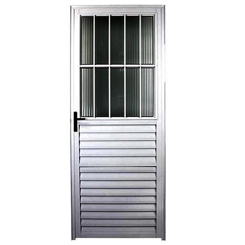 Porta com Postigo 2,10 x 0,80 Esquerda Alumínio - JANELLOT