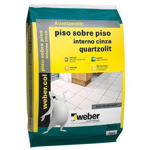 Argamassa Cimentcola Piso Sobre Piso Interno 20kg Cinza Weber - 0046.00001.0020PL - QUARTZOLIT