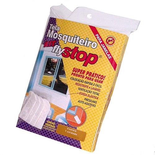 Tela Mosquiteiro Fly Stop 1,20 x 1,50 Metros - 7896068001355 - BRICOLAR