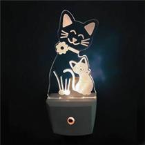 Luz Noturna Gato Com Sensor - 6154 - KEY WEST