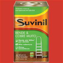 Tinta Acrílica Fosca Cobre Mais 18 Litros Vermelho Cardinal - 50321308 - SUVINIL