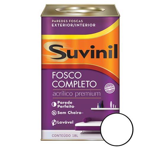 Tinta Acrílica Fosco Branco Neve 18 Litros - 53398863 - SUVINIL