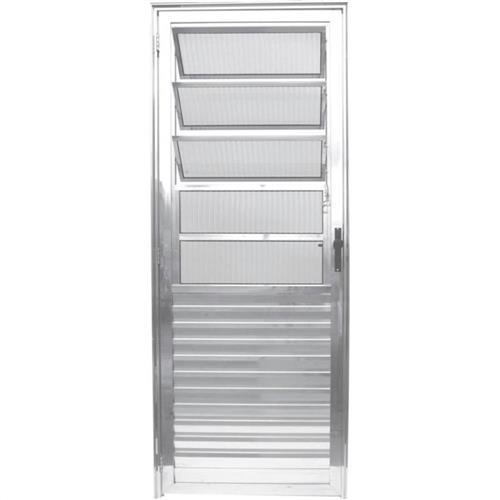 Porta Basculante Alum Nio 210 X 80 Direita L25 Facce