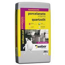 Argamassa Porcelanato Interno Cinza 20kg Weber- 0102000011440PA - QUARTZOLIT