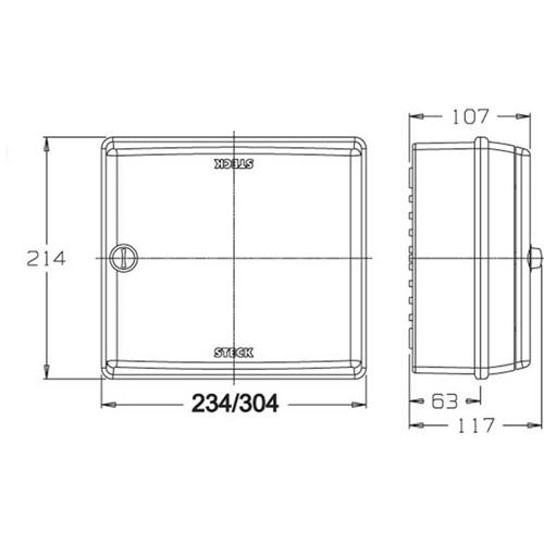 Quadro Sobrepor 13 Disjuntor Din - SCD13POR - STECK