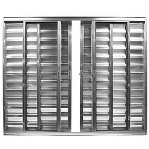 Veneziana de Alumínio Brilhante 6 Folhas 100x120cm sem Grade - FACCE