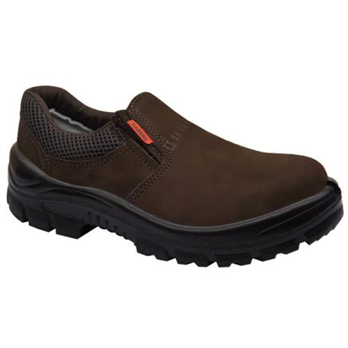 Sapato Nobuck Elástico Café Tamanho 41 - 44201PP - KADESH