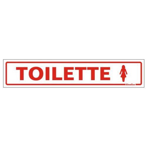 Placa de Poliestireno Auto-Adesiva 5x25cm Toilette Feminino - 200 AH - SINALIZE