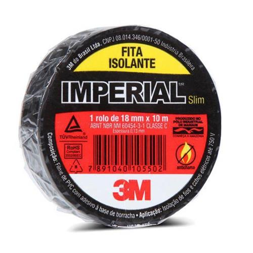 Fita Isolante Scotch Flow Pack 18mm x 10m - HB004318703 - 3M
