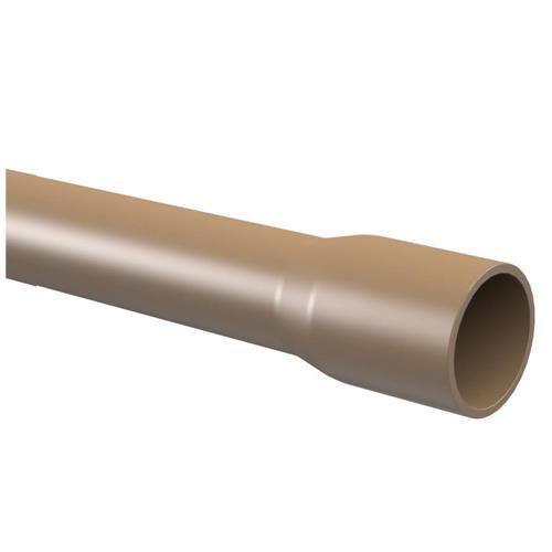"Tubo PVC Para Água Fria Soldável 3 Metros 3/4"" DN-25 Marrom - 10.12.178.7 - TIGRE"