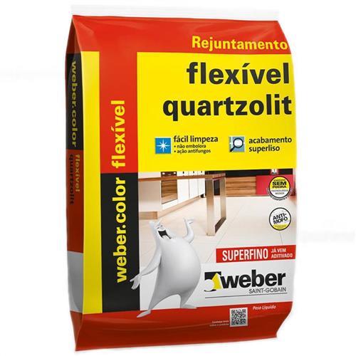 Rejunte Weber Color Flexivel Preto Grafite 1Kg - 0107000420015FD - QUARTZOLIT
