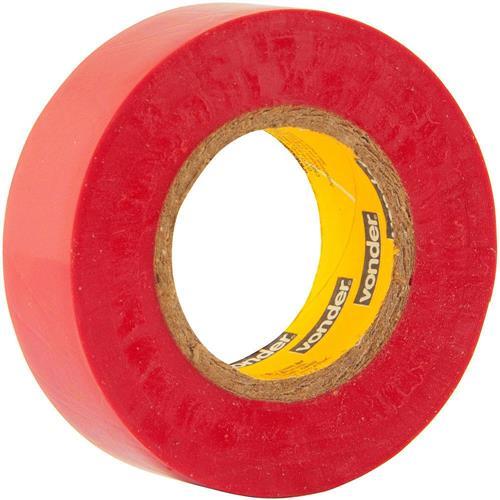 Fita IsolanteVermelha 19mm x 10 Mts - 11.37.191.091 - VONDER