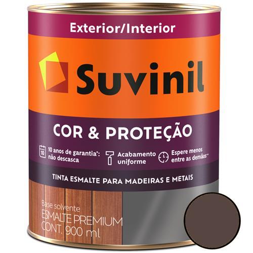 Tinta Esmalte Sintético Cor e Proteção Brilhante Para Madeira e Metal 900ml Marrom - 53380154 - SUVINIL