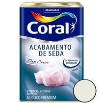 Acabamento de Seda Acrílico Branco 18 Litros - CORAL