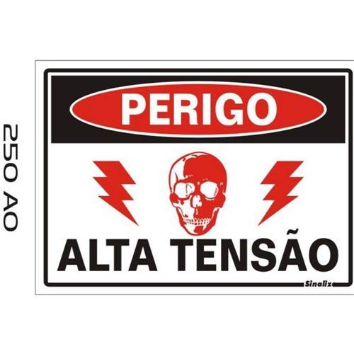 Placa de Poliestireno Auto-Adesiva 20x30cm Não Entre Perigo de Vida - 250 AO - SINALIZE
