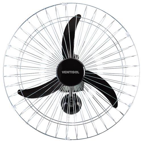 Ventilador Oscilante de Parede 60cm Preto com Grades Cromadas HH Premium Bivolt - 9250603 - VENTISOL