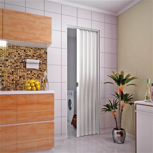 Porta Sanfonada PVC 2.10x90 Branca - PLASBIL