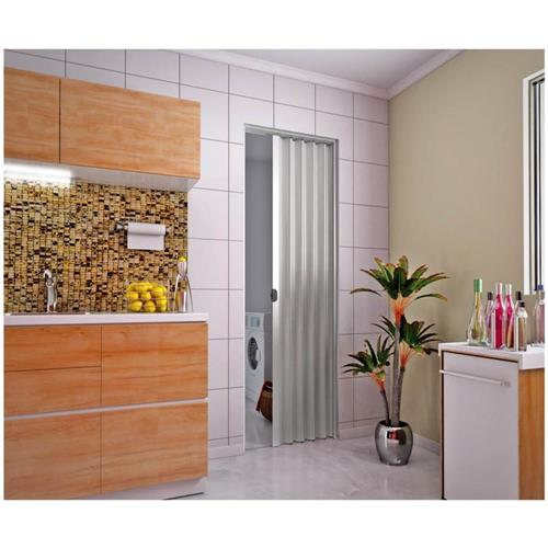 Porta Sanfonada PVC 2.10x80 Cinza - PLASBIL