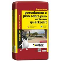 Argamassa Cimentcola para  Porcelanato Piso Externo 20 KG Ciinza - 0100.0001.0020PA/PL - QUARTZOLIT