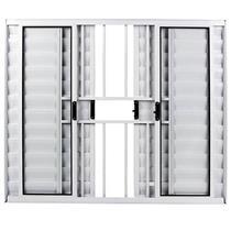Veneziana de Alumínio Branca 6 Folhas 100x120cm com Grade - FACCE