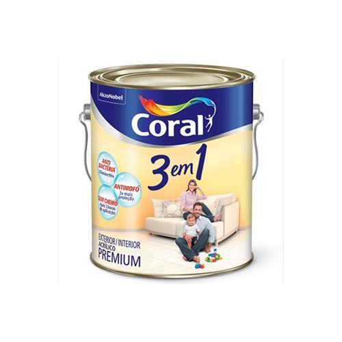 Tinta Acrílica 3 em 1 Fosco Pêssego 3,6 Litros - CORAL