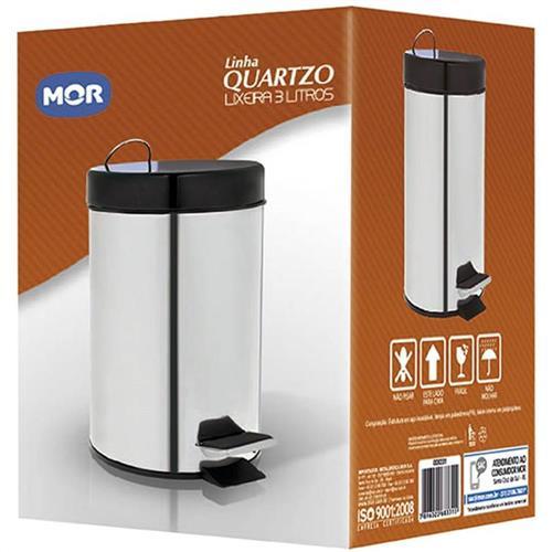 Lixeira 3 Litros Linha Quartzo - 8331 - MOR