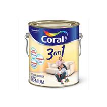 Tinta Acrílica 3 em 1 Fosco Branco Gelo 3,6 Litros - CORAL
