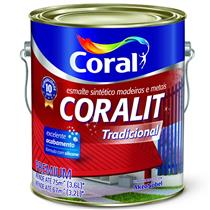 Tinta Esmalte Sintético Coralit Tradicional Brilhante Para Madeira e Metal Azul Del Rey 3,6 Litros - CORAL