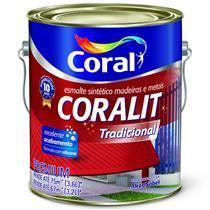 Tinta Esmalte Sintético Coralit Tradicional  Para Madeira e Metal Preto Fosco 3,6 Litros - CORAL